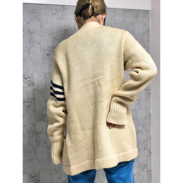 US ivory knit cardigan