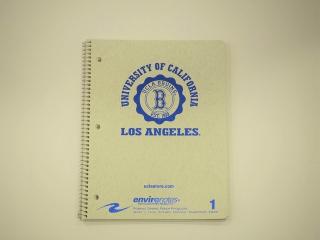 品番UN-003 UCLAノート / UCLA Notebook