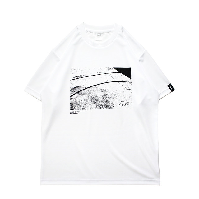 HOME COURT S/S PL <White×Black> - メイン画像