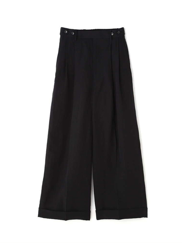 Linen wide pants Black / Luxluft