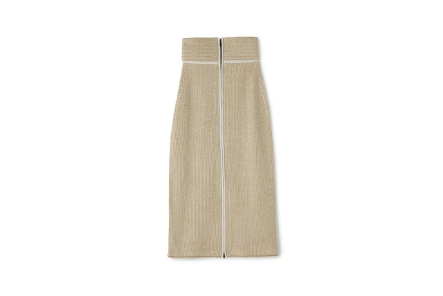 CORDUROY LIKE SKIRT - [BEIGE]