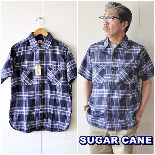 SUGARCANE シュガーケーン マドラスチェック半袖ワークシャツ  SC38436 東洋エンタープライズ TOYO