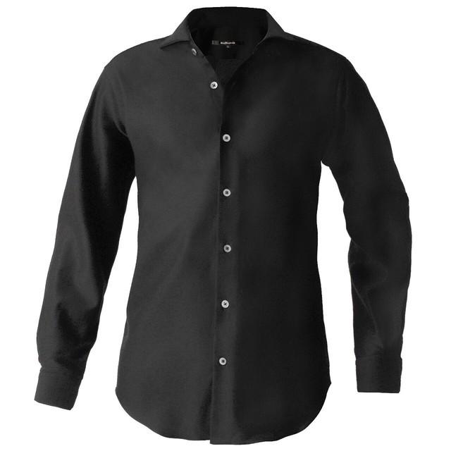 DJS-787 decollouomo メンズドレスシャツ 長袖 overture - ブラック