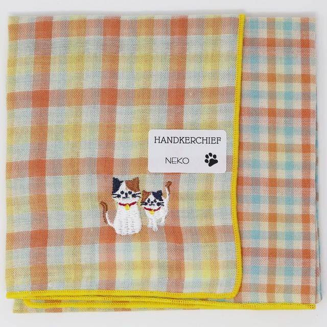 猫ハンカチ(ダブルガーゼハンカチねこ)