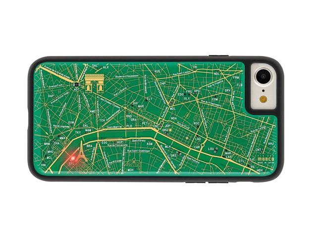 FLASH Paris回路地図 iPhoneSE(第2世代)/7/8 ケース 緑【東京回路線図A5クリアファイルをプレゼント】