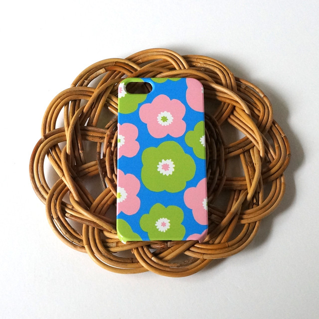 ハード型スマホケース popy ( retro blue )【iPhone/Android 各機種対応】
