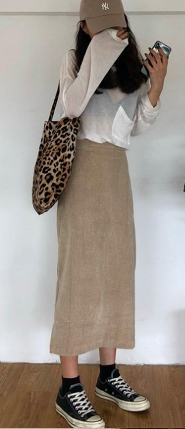 【お取り寄せ商品】corduroy long skirt R1159