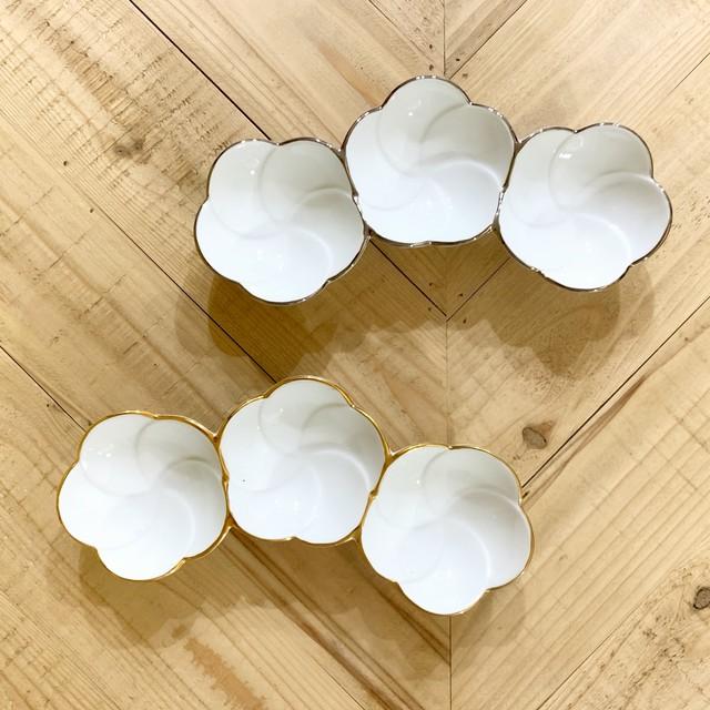 金線  プラチナ線  花つなぎ小鉢