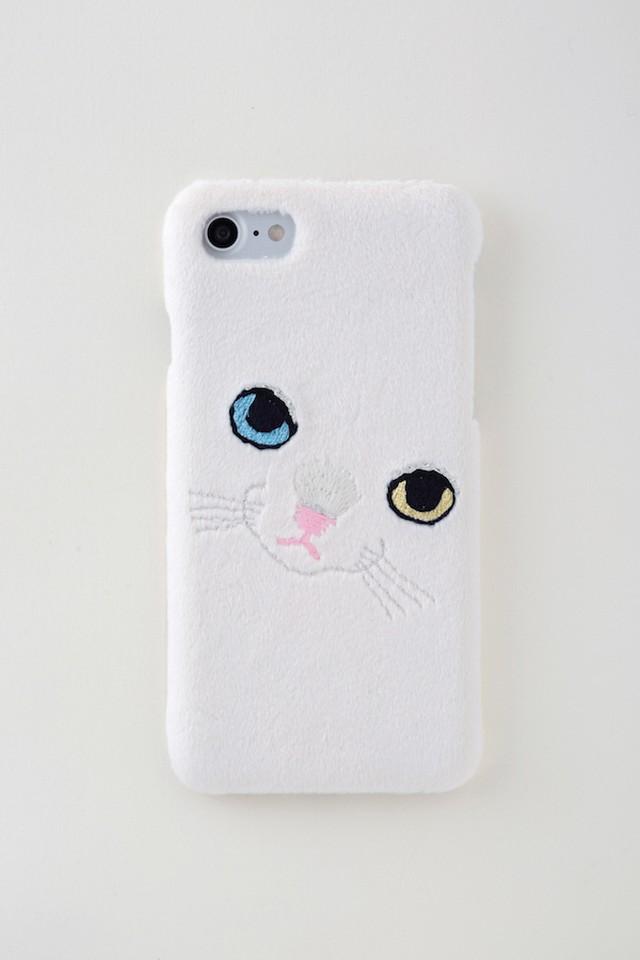 【新生地】ビッグフェイスネコiPhone7ケース【オッドアイ】