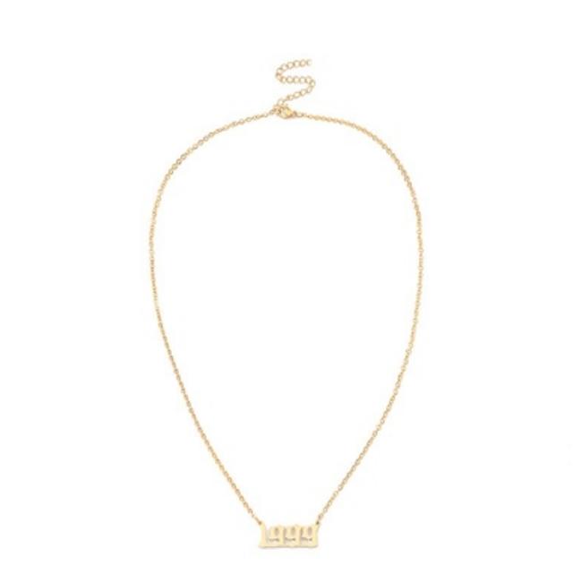 【人気NO.8】【翌日発送】数量限定 Year logo necklace LD0120