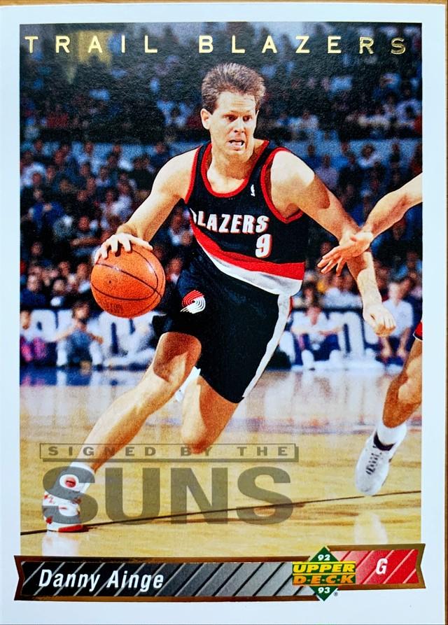 NBAカード 92-93UPPERDECK Danny Ainge #75 TRAILBRAZERS