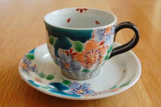 カップ&ソーサー 桜の宴ブルー