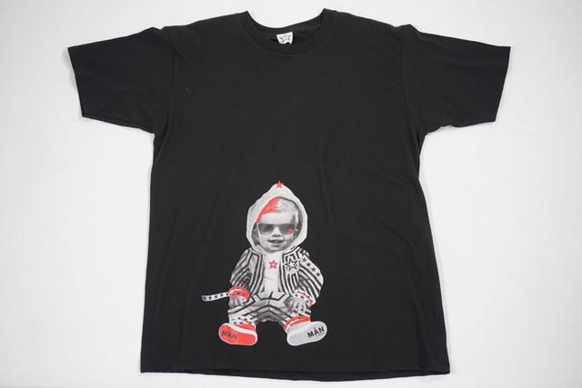 【StarLean】ベイビーフォトTシャツ【ブラック】
