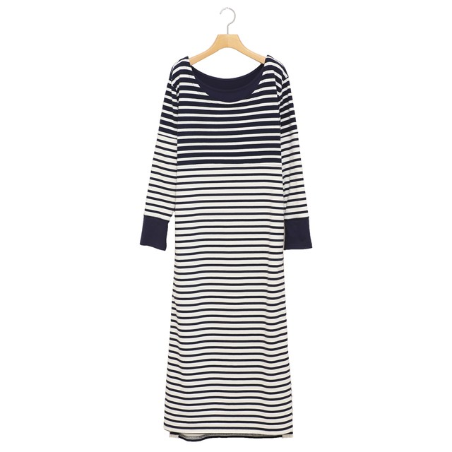 AULA AILA/BORDER DRESS ボーダーワンピース【1201-03013】