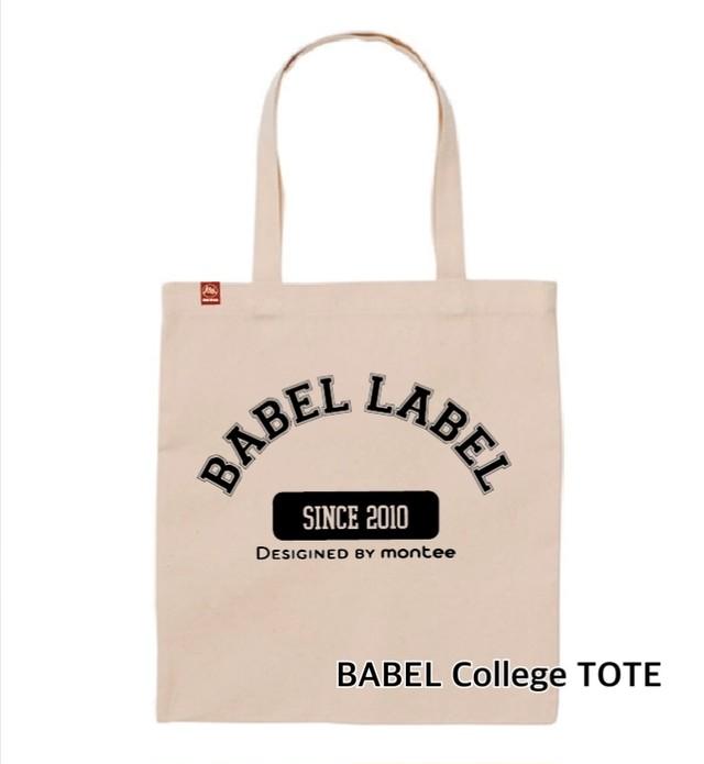 【受注生産】 BABEL LABEL TOTE BAG