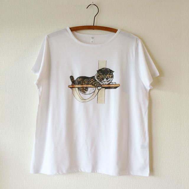 【KORIRI】ペンスケッチTシャツ - みかんのたわわなおにゃか