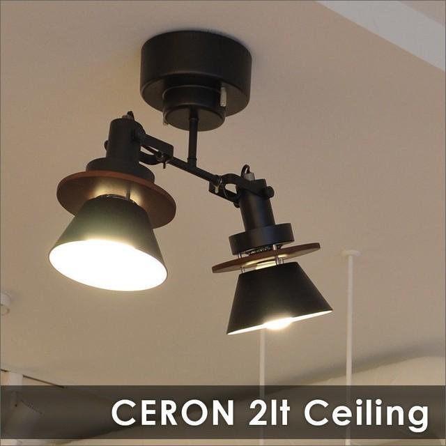 CERON 2灯シーリングスポットライト セロン 照明 全2色