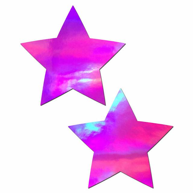 ホログラムピンクカラー ☆星型☆ ニプレス/ニップレス P40STRholopink