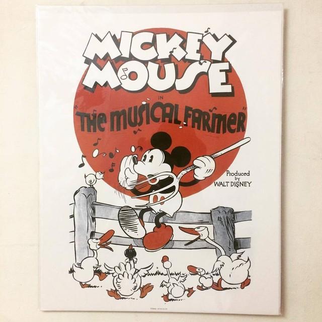 ポスター「ディズニー ミッキーマウス ミッキーの陽気な農夫」●Mickey Mouse - メイン画像
