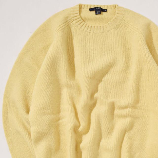 【Mサイズ】J.CREW ジェイクルー Solid Sweater ソリッドセーター YLW イエロー M 400604191111