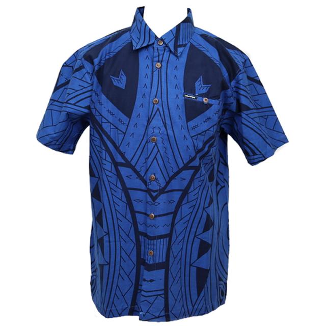 Aloha Shirt 2019 Tribal Blue【Size:L】