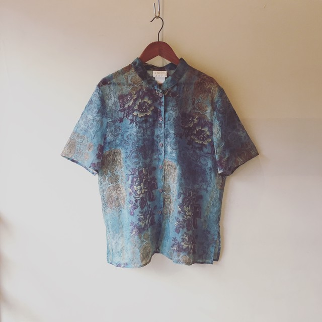 vintage design sheer tops