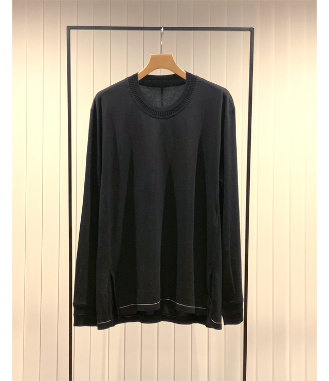 Long Sleeve Combination Cut and Sew / Black