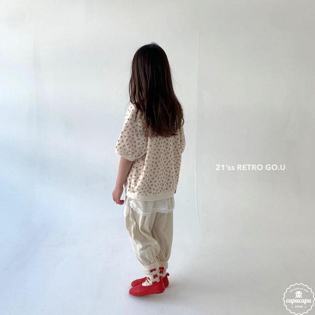 «sold out»«ジュニア» go.u cotton pants ジョガーパンツ ジュニアサイズ