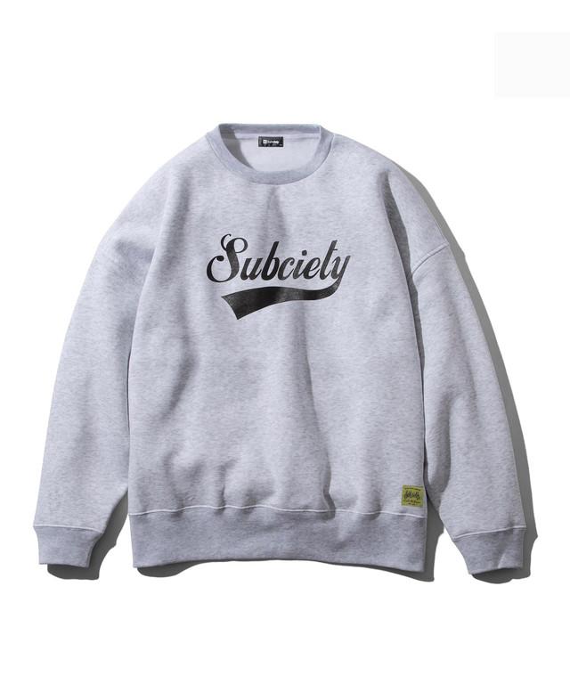 【送料無料】Subciety(サブサエティ) | BIG SWEAT-GLORIOUS- (Gray)