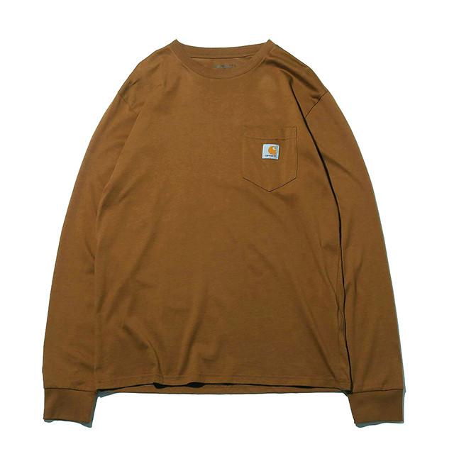 【残りわずか/Carhartt WIP】ロングスリーブ ポケット Tシャツ