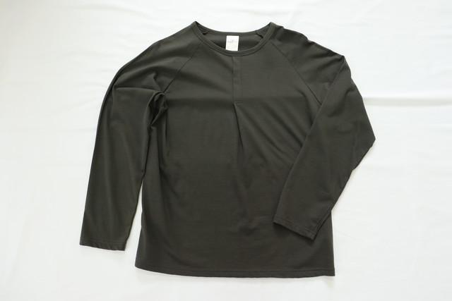 SALE セール LOLO 【ロロ】ワンポイントプリーツ ラグランTシャツ チャコール