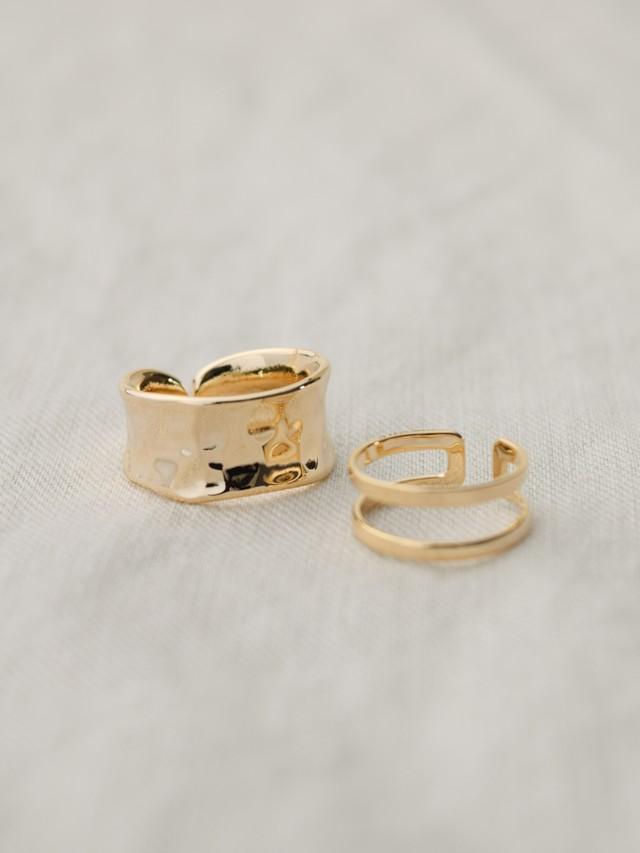 Uneven & Double Rings 2 set