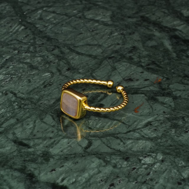 SINGLE MINI STONE RING GOLD 040