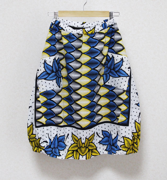 カンガのバルーンスカート アフリカ布スカート
