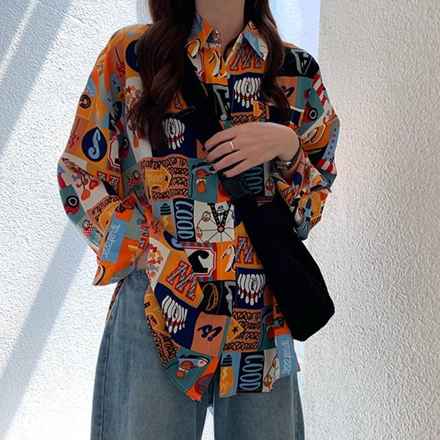 【トップス】 ファッションカジュアルレトロ韓国系キュートPOLOネック小柄シャツ33517606