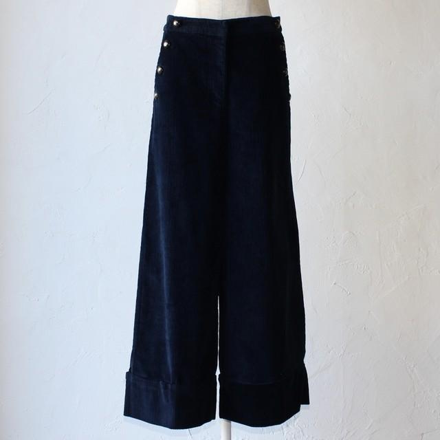 【ottod'Ame】corduroy wide pants- navy