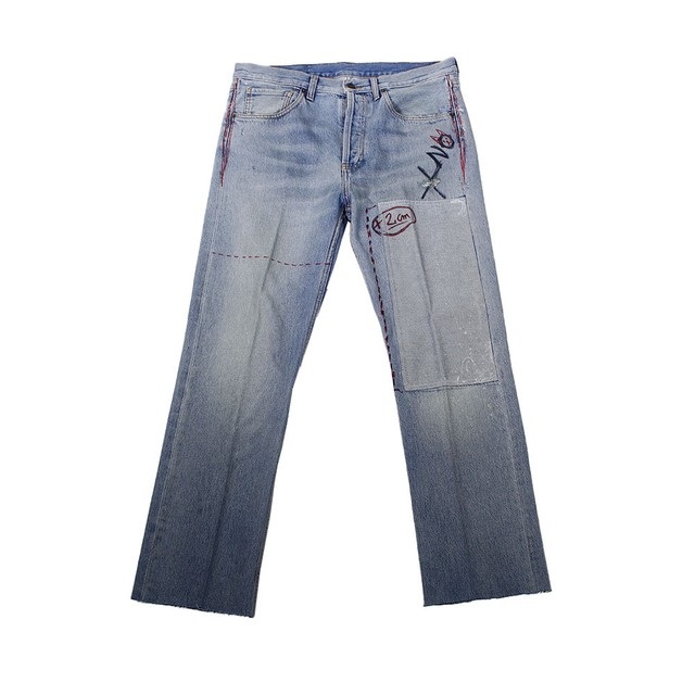 COOL TM Hand Print Denim Pants