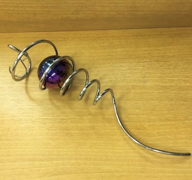 Silver Spiral tail + Ball /シングルボール