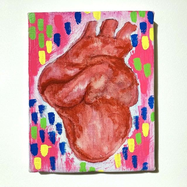 Heart in Love(2017) / 18cm×14cm / Acrylic painting / Original Drawing