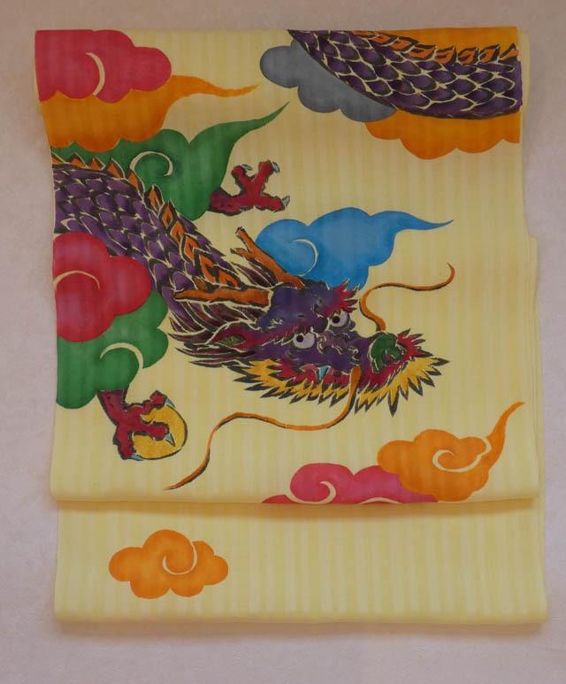 オリジナル型絵染帯 龍神