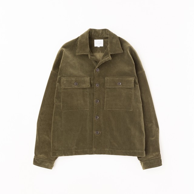 【VICTIM】WIDE MILITARY JACKET(OLIVE)