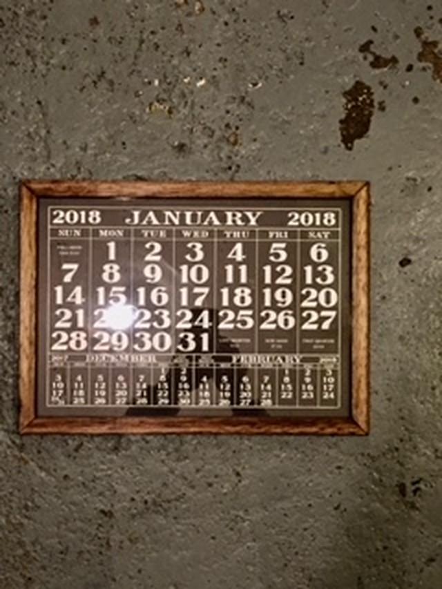 LABOR DAY 1930's  style calendar 2018 (フレームのみ)