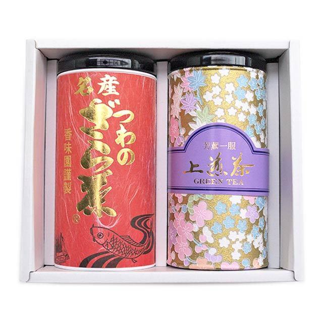 【ギフト】上煎茶・ざら茶詰合わせ(ざら茶80g・上煎茶150g)