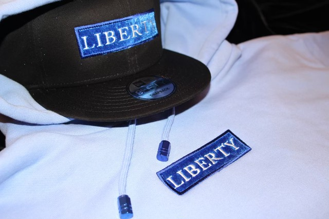 LIBERTY BLUE  VELOR BOX HOODIE