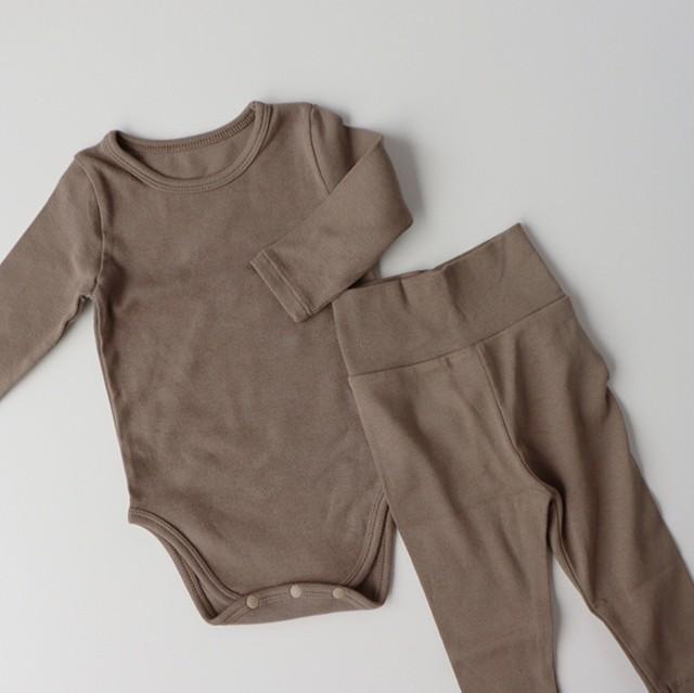 rompers & leggings set (ロンパース/レギンス/ココア)  Peekaboo:JPK03BSX0082263_215