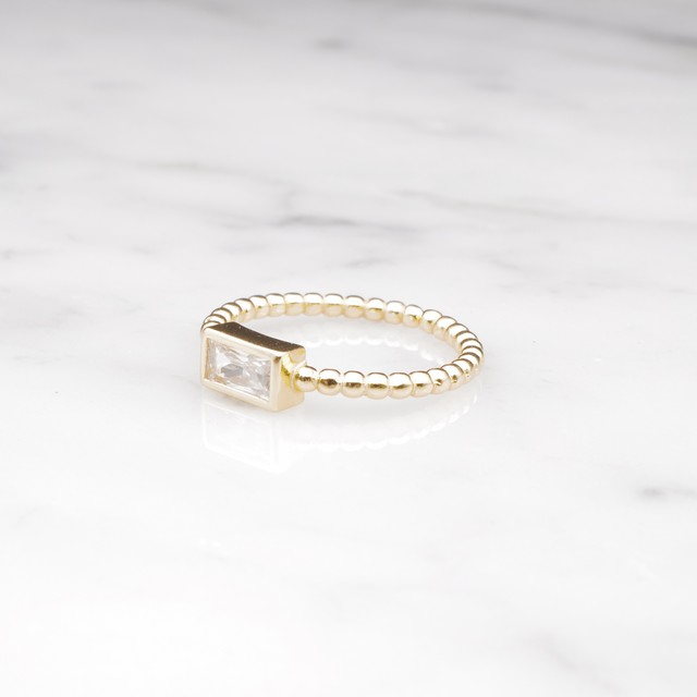 【RESTOCK】S925 SINGLE MINI ZIRCONIA RING GOLD