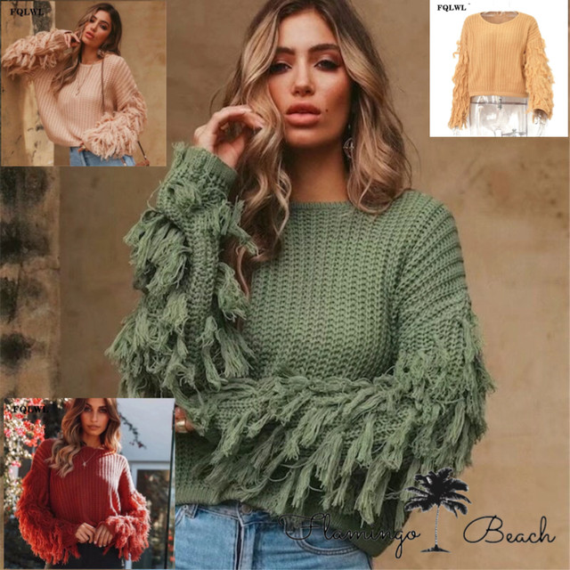 【FlamingoBeach】tassel knit