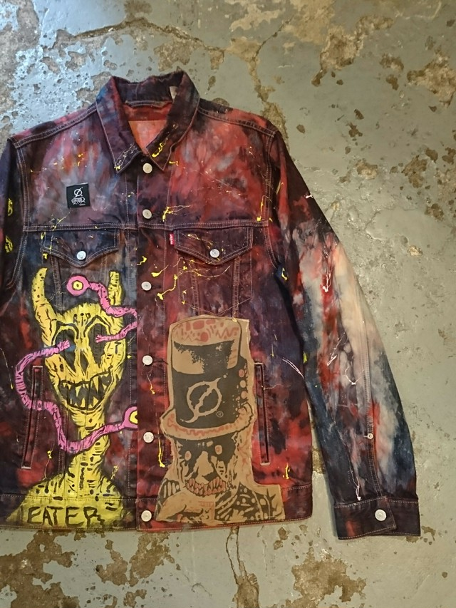 EATER OF WORLDS HAND PAINT Levi's Jacket