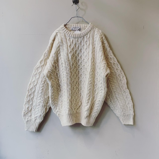 vintage fisherman sweater from Scotland