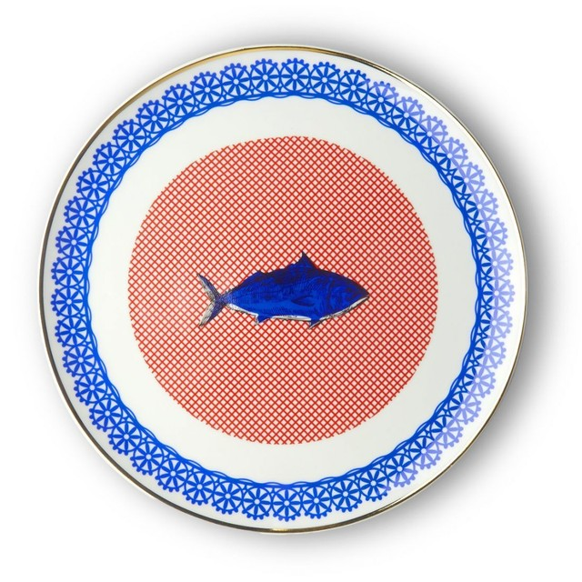 BITOSSI HOME - Plate - Bel Paese Round Platter(Fish)